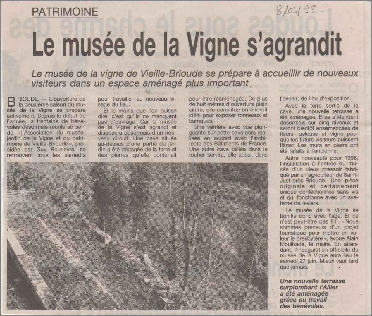 Article musee agrandit 08 04 98