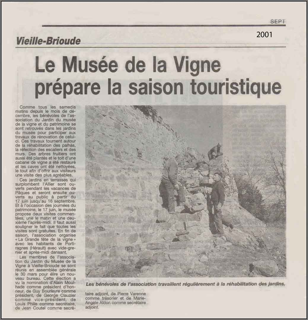 Article septembre 2001